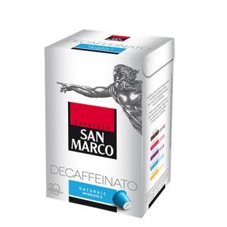 San Marco propose même de la capsule café décaféiné…